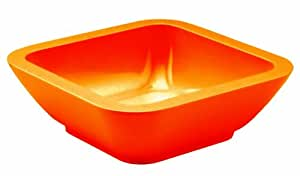 Zak Designs 0550- 0322E Coupelle carrée 15cm Orange Seaside mélamine