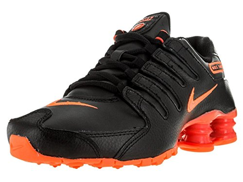 Nike Shox NZ Women's Sneakers (9.5, Black/Bright Crimson/Bright Mango)