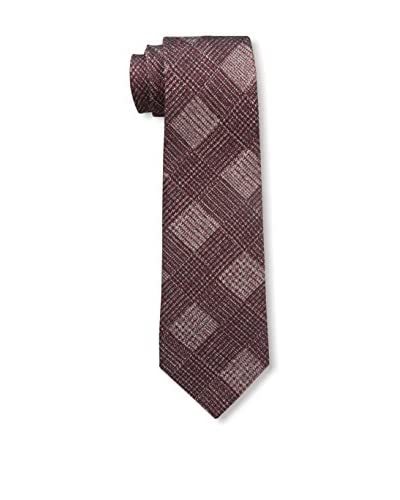 Valentino Men's Plaid Tie, Maroon