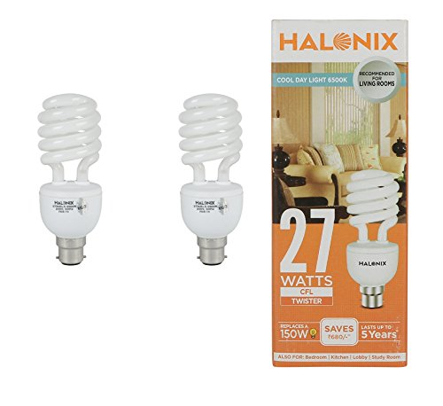 Halonix 27 W Twister CFL Bulb (Cool White, Pack of 2) Image