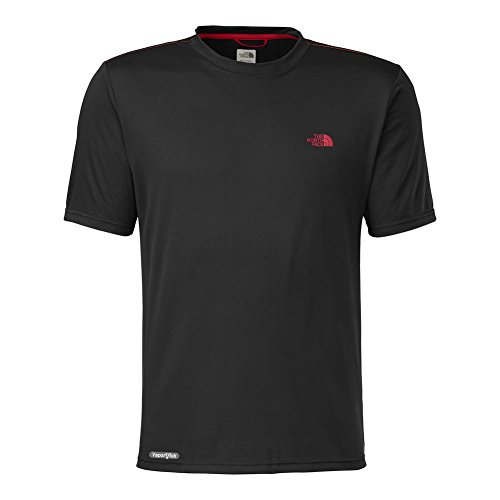 The North Face Short Sleeve Reaxion Amp Crew Men'S Tnf Black/Tnf Red M