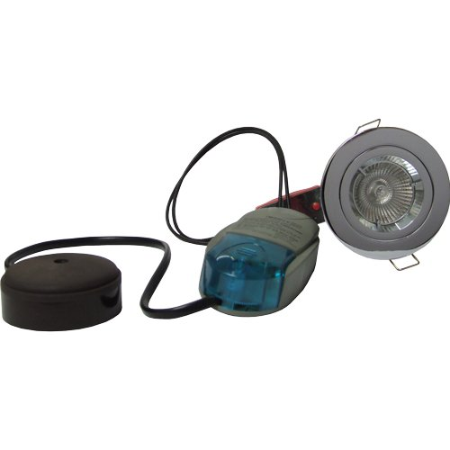 Fire Rated Downlight Fixed MR16 Low Voltage 12v Kit Chrome PK of 5