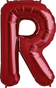 Amazoncom letter r red helium foil balloon 34 inch for Foil letter balloons amazon