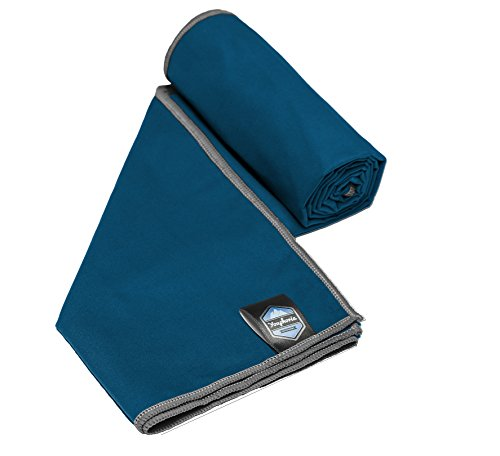 Youphoria Sport Towel and Travel Towel - Super Absorbent and Quick Drying! Camping, Beach, Pool, Gym or Bath. 100% Satisfaction Guarantee! (Dark Blue/Gray, 32