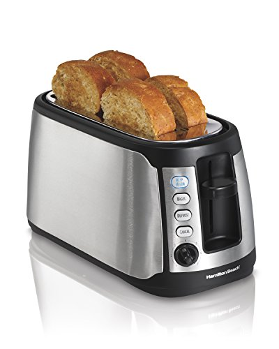 Hamilton Beach 24810 4-Slice Long Slot Keep Warm Toaster (4 Toast Toaster With Toaster Oven compare prices)