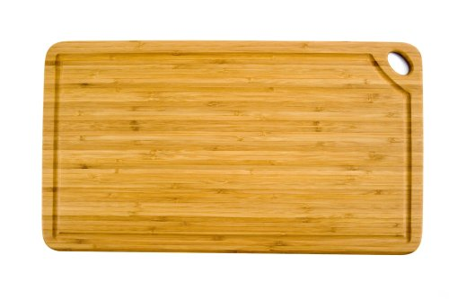 Totally Bamboo GreenLite 11-Inch by 20-Inch Groovy Rectangle Cutting Board