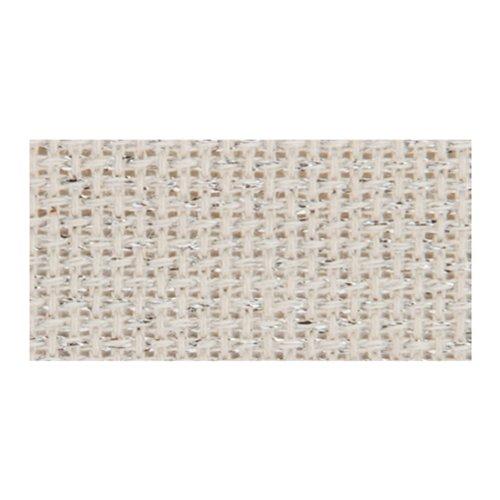 DMC GD1436S-6201 Stardust Aida Fabric Box, Silver Dusted, 14 Count
