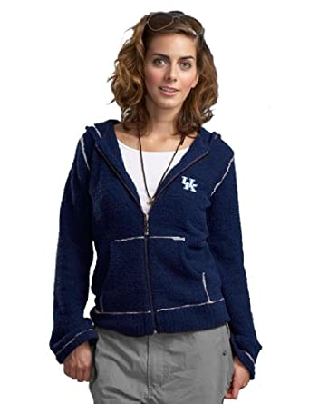 NCAA University of Kentucky Kashwere U Full-Zip Hoodie (Navy White, X-Large 12-14) by Kashwere U