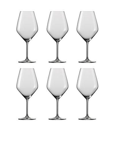 Schott Zwiesel Set of 6 Top Ten Full Bodied Red Wine Glasses, Clear
