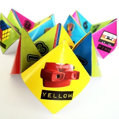 80s Party Table Decorations - 10 x Paper Click Clacks - Ready to Make. Featuring an 80s theme.