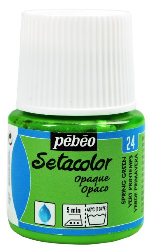Pebeo Setacolor Opaque Fabric Paint 45-Milliliter Bottle, Spring Green
