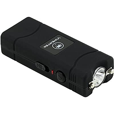 VIPERTEK VTS-881 - 430,000,000 Micro Stun Gun - Rechargeable with LED Flashlight, Black by VIPERTEK
