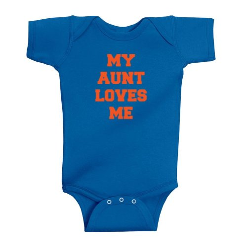 So Relative! Unisex Baby My Aunt Loves Me Bodysuit (Royal, 12 Months) front-1045018