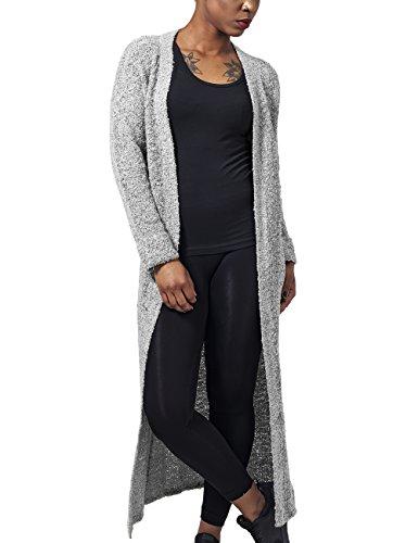 Urban Classics Ladies Boucle Cardigan, Cappotto Donna, Grau (Grey 111), X-Small