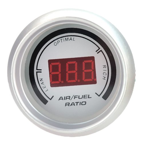 "New White Car 2"" 52Mm Digital Analog Led Air/Fuel Ratio Monitor Meter Racing Gauge"