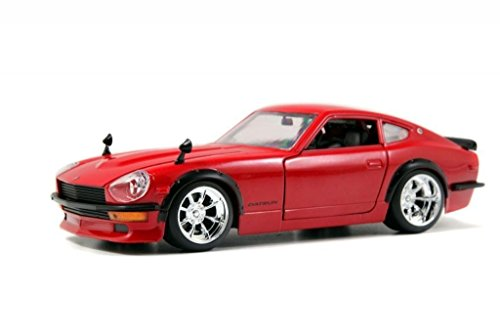 New 1:24 DISPLAY BIG TIME MUSCLE - RED 1972 NISSAN DATSUN 240Z Diecast Model Car By Jada Toys (Datsun 240z Model Car compare prices)