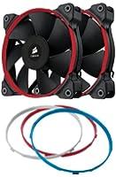 Corsair Ventilateur Haute Pression SP120 Edition Silencieuse 120mm - Noir, Bleu, Rouge, Blanc - Pack double (CO-9050006-WW)