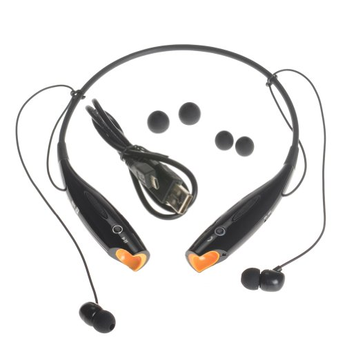 Kamo Hv-800 Wireless Bluetooth Music Stereo Universal Headset Headphone Vibration Neckband Style For Iphone Ipad Samsung Black