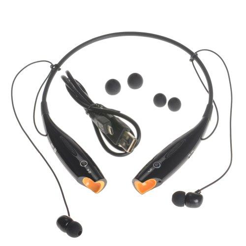 Kamo Hv-800 Wireless Bluetooth Music Stereo Universal Headset Headphone Vibration Neckband Style For Iphone Ipad Samsung Black