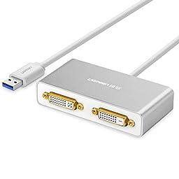Ugreen USB 3.0 to Dual DVI HDMI VGA External Video Graphics Card