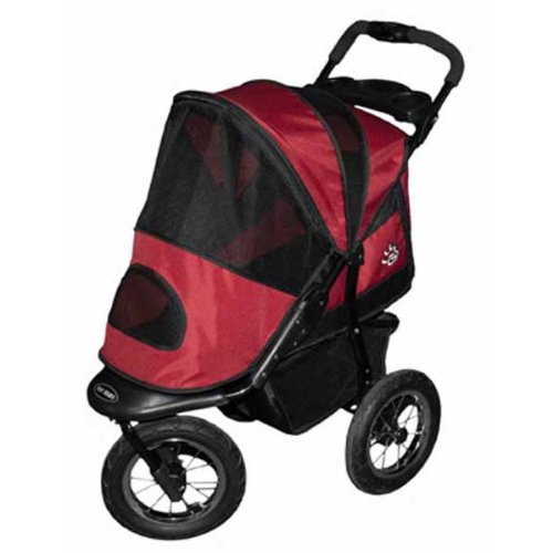 Pet Gear Jogger Pet Stroller for Cats and Dogs, Burgundy