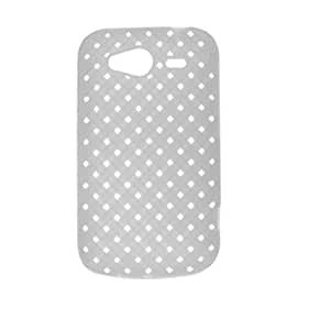 Amazon.com: Modelo blanco tejido Estuche protector para HTC Wildfire S