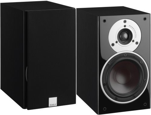 "DALI ZENSOR 1 5.25"" Woofer 2-Way Bookshelf Speaker - Black Ash Vinyl (Pair) at amazon"