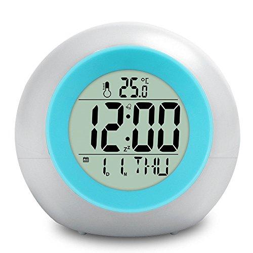 e-auto fun®光るデジタルクロック オーロラ 癒やし 光る グッズ デジタル時計 光る目覚まし時計 光る文房具 おしゃれインテリア