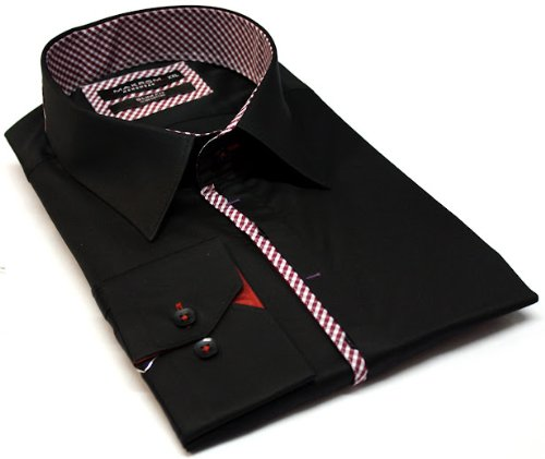 Italian Design Men's Formal Casual Shirts Black Colour
