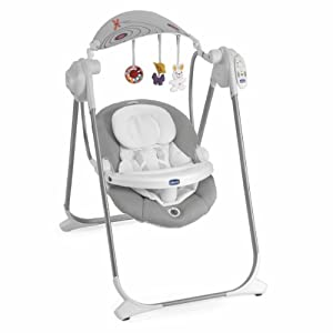 Chicco polly swing up castlerock grey baby for Altalena chicco amazon