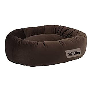 SlumberJax  32 x 38 x 8-Inch Donut Dog Bed, Large, Spa Burlap