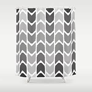Society6 Geometric Pattern Black White Shower Curtain By C Designz Home Kitchen