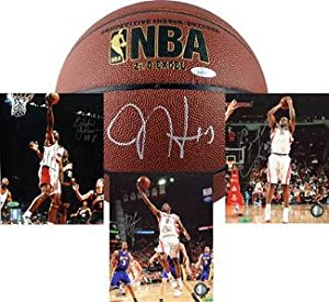 James Harden signed Houston Rockets Basketball 3 Photo Package- Tri-Star Hologram by Athlon Sports Collectibles