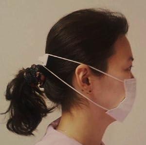 マスク密着&耳の痛みを解消 マスク 固定用 フック Heart&Love バレッタタイプ 白×緑