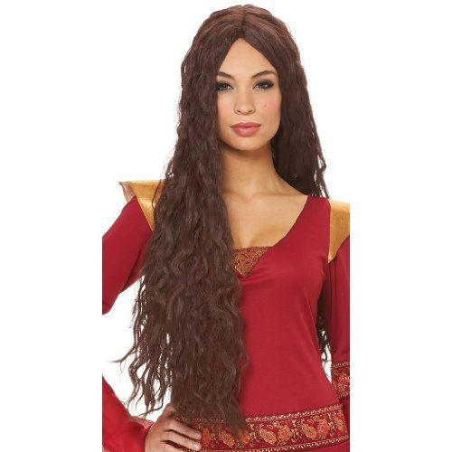 Renaissance Beauty Brown Costume Wig