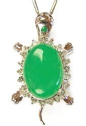 Jade Turtle Pendant for Good Health