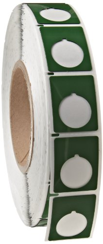 "Brady Thtep-167-593-.5Gn 1.2"" Width X 1.5"" Height, B-593 Adhesive-Taped Polyester, Gloss Finish Green Push Button Label For Thermal Transfer Printers (500 Per Roll)"