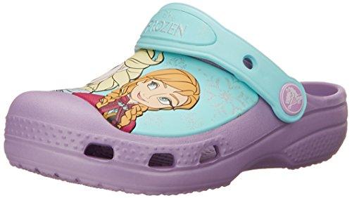 Crocs Girls' CC Frozen Clog (Toddler/Little Kid),Iris,6-7 M US Toddler