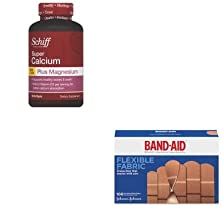 buy Kitjoj4444Sfs11342 - Value Kit - Reckitt Benckiser Super Calcium Plus Magnesium With Vitamin D Softgel (Sfs11342) And Band-Aid Flexible Fabric Adhesive Bandages (Joj4444)