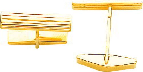 14K Gold Cuff Links