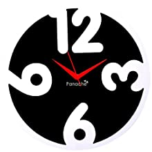 Panache 4 Digit Aluminium Wall Clock (Black/White)