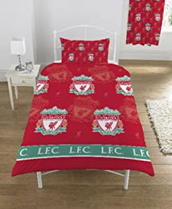 Liverpool FC Multi Crest Single Bed Duvet Set by Liverpool FC