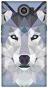 The Racoon Grip printed designer hard back mobile phone case cover for Blackberry Priv. (Ice Wolf E)