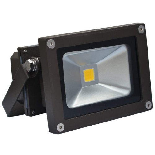 10 Watt - Led - Ul Listed - Waterproof Flood Light Fixture - Warm White - Operates At 100 To 277 Volts - 120 Degree Beam Angle - 75W Halogen Equal - Dark Bronze Housing