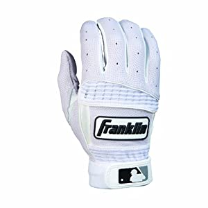 Franklin Sports Neo Classic II Adult Series Batting Glove (White, Large)
