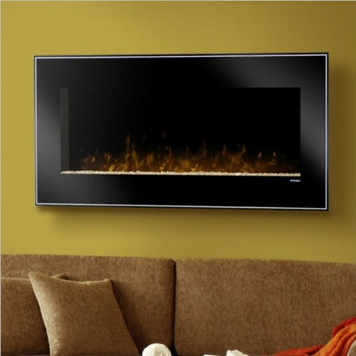 Dimplex DWF1215B Stately and Modern Wall-Mount Fireplace, Black and Pinstripe image B008LBEQ7S.jpg