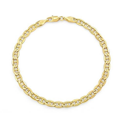 14k Yellow Gold Italian Mariner Chain Necklace (5mm), 20""