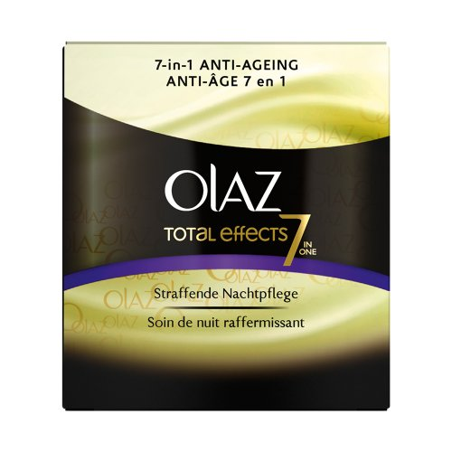 Olaz Anti-Ageing-Pflege Total Effects Nachtpflege, 2er Pack (2 x 50 ml)