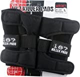 187 Black Medium Wrist Guards