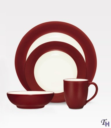 Noritake 4-Piece Colorwave Place Setting, Raspberry
